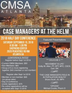 CMSA Atlanta: Case Managers at the Helm @ Sheperd Center
